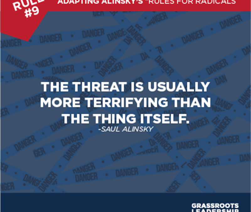 Adapting Alinsky's Rules for Radicals: The Importance of Follow-Through